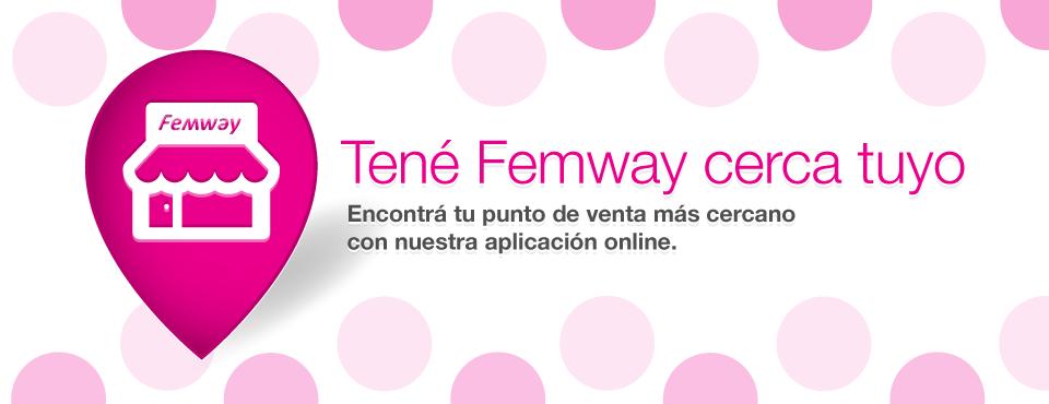 Tené Femway cerca tuyo. Encontrá tu punto de venta más cercano con nuestra aplicación online.